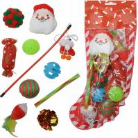 Katzen Spielzeugset Weihnachten 10 teilig