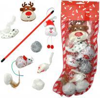 Katzen Spielzeugset Weihnachten 8-teilig