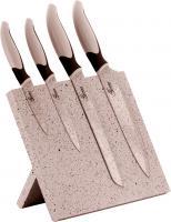 NEU Genius Messerblock 5 teilig Cerafit Edition Granit Optik 4 Küchenmesser