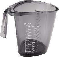 Design Messbecher 1 Liter Maßbecher Grau Transparent Backzubehör Dr. Oetker 1487