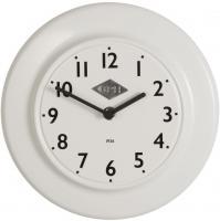 Laursen - Wanduhr  CPH 1936  Weiß Ø 24cm (0700-11) Retro Uhr Küchenuhr Bürouhr