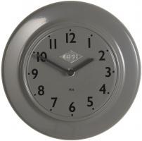 Laursen - Wanduhr  CPH 1936  Grau Ø 24cm (0700-18) Retro Uhr Küchenuhr Bürouhr