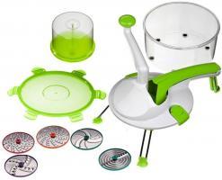 Genius - Roto Champ 8-tlg. Küchenmaschine Küchenreibe Zerkleinerer grün 25088