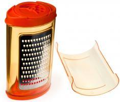 Genius - Streureibe 2-tlg. Küchenreibe Reibe Zitrusreibe Käsereibe orange 25037