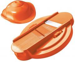 Genius Reibe 21257 Cutter 2 tlg. Orange Hobel Küchenreibe Gemüsehobel