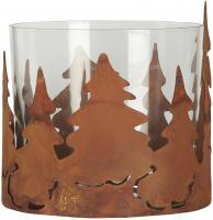 Kerzenständer Kerzenhalter Teelichthalter Bäume Glas Metall Ib Laursen 2525-14