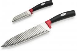 Genius - Kontur-Messer mit Wellenschliff Set 2-tlg Kochmesser Küchenmesser 80661