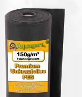 112,5m² Gartenvlies Unkrautvlies Vlies 150g 1,5m breit PES