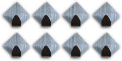 Selbstklebende Haken Handtuchhaken Klebehaken Wandhaken 12 x Raute