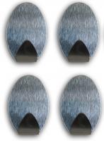 Handtuchhaken Kleiderhaken Wandhaken Handtuchhalter Edelstahl 4 STCK selbstklebend oval