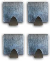 Handtuchhaken Kleiderhaken Wandhaken Handtuchhalter Edelstahl 4 STCK selbstklebend eckig