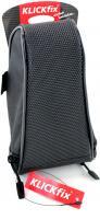 Asista, Sattel Tasche  Micro 80 Plus , Fahrrad Tasche, für  KLICKfix  0,8 Liter, schwarz, 0296S