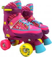 Best Sporting Rollschuhe für Kinder und Jugendliche, Größe verstellbar, ABEC 7 Carbon, pink