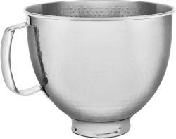 Edelstahlschüssel 4,8l gehämmert f. Küchenmaschine