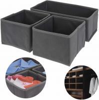 3x Schubladen Organizer Set Regalbox Faltkiste Aufbewahrungsbox Staubox