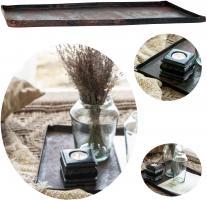 Vintage Metall Deko-Tablett Backblech 42cm Unika Serviertablett Kerzen-Teller