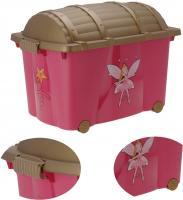 XL Spielzeugkiste Prinzessin Fee Aufbewahrungsbox Rollbox Rollen