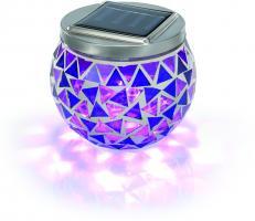Solar Mosaik-Tischleuchte brilliant-lila 5000 K
