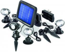 LED Solarspot Trio PIR kaltweiss 6000 K