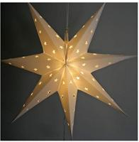 LED Stern Weihnachtsstern Adventsstern 60 x 60 cm - Außenbereich Aussen groß Kunststoff (mit Timer-Funktion) (rot)