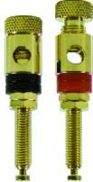 analogis Lautsprecher-Einbauterminals, vergoldet, passend für Kabelquerschnitt 5 mm², 2er Pack