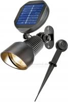 Solar Spotlight Lichtfarbe 2800K warmweiß Wand oder Bodenmontage, 102136