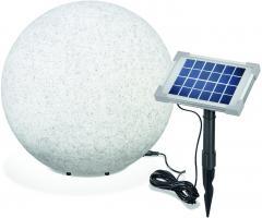 Solar Leuchtkugel Mega Stone 40 Steinoptik Granit