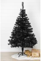 Weihnachtsbaum 150 cm in Schwarz inklusive Metallständer ohne Beleuchtung