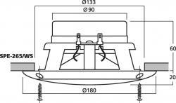 Monacor SPE-265/WS - Einbau-Lautsprecherpaar