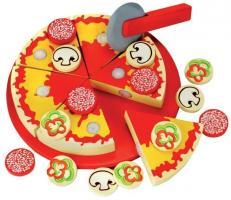 Schneidebrett mit Pizza