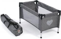 Puppen-Reisebett, Jeans grey
