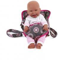 Puppen-Tragegurt Dessin Hot Pink Pearls