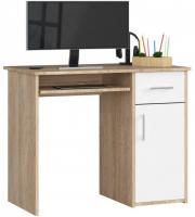 Schreibtisch Bürotisch Tisch A800 90x50x74 cm Sonoma-Weiss