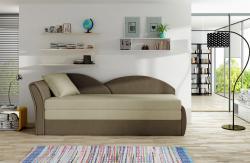 Sofa Schlafsofa inklusive Bettkasten ALINA / L- Braun / Beige