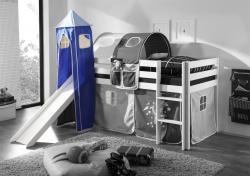 Turm DUNKELBLAU / HELLBALU für Spielbett Hochbett Etagenbett