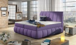 Boxspringbett Schlafzimmerbett PALERMO Mikrofaser Violett 160x200cm