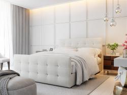 Boxspringbett Schlafzimmerbett MAURO 140x200cm Beige inkl.Bettkasten