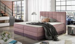 Boxspringbett Bett PRATO Webstoff Violett/ Rosa 120x200cm