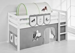 Tunnel Pferde Grün - für Hochbett, Spielbett und Etagenbett
