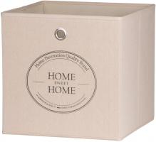 Faltbox Box - Home -32 x 32 cm - Beige