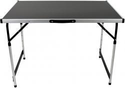 Wohaga® Aluminium Universaltisch 60x100cm Tapeziertisch Klapptisch Schwarz Silber