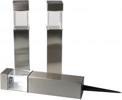 Grundig LED Solarlampen-Set  Square  Edelstahl 28cm - 1x 3er-Set