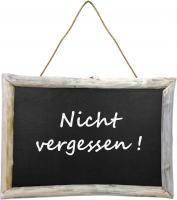 Wandtafel mit Holzrahmen 70x50x4cm - Natur