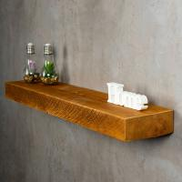 levandeo Wandregal Holz Massiv 100x20cm Teak Farbig Wandboard Regal Vintage Bord