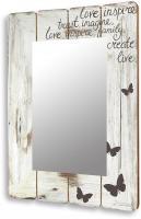 Spiegel Wandspiegel Flurspiegel aus Holz vintage shabby chic 50x70cm
