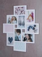 Bilderrahmen weiß 10 Fotos Fotogalerie Fotocollage 3D Optik Collage