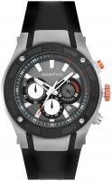 Quantum POWERTECH, Herren Uhr, Armbanduhr silver/black, 47x53mm, silicone black