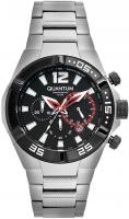 Quantum ADRENALINE Herren Uhr, Armbanduhr silver/black, 40x48,5mm, steel silver