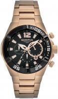 Quantum ADRENALINE, Herren Uhr, Armbanduhr, gold/black, 40x48,5mm, steel gold