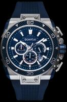 Quantum HUNTER, Herren Uhr Analog,Armbanduhr silver/blue, 51x39mm, silicone blue